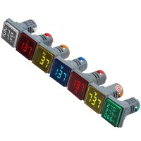 22mm digital display AC DC voltage ammeter frequency thermometer indicator light