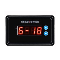 DC12V AC220V 6 Way Ammeter Temperature Alarm High Temperature Protection Switch