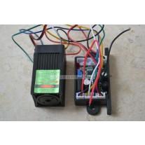 12V 532nm 100mw Green Laser Dot Module Fan Cooling TTL 0-30KHZ-Long time working