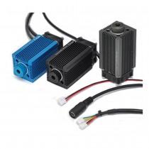 High Power Point Laser Blue Violet Adjustable Focus DIY 3D Ddicated Engraving 12V 500mW