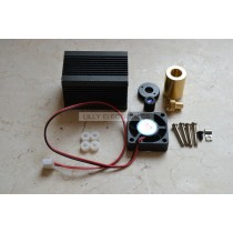 Laser Module Housing 33x33x50mm for 5.6mm TO-18 LD with Red Glass Lens & Fans For DIY