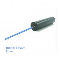 8mm405nm10mw point laser module blue-violet laser UV curing laser