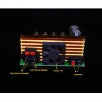 300W 3 Channel Air Cooled Subwoofer Power Amplifier Board 2.1 High Power Amplifier Board