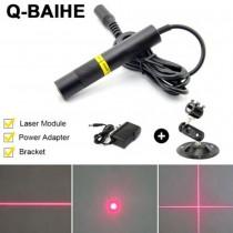 Red 650nm 100mW Dot Line Cross Laser Module 16x120mm w/Adapter US/EU/AU/UK DIY